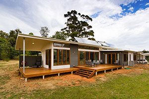 solar passive house in a cooler climate